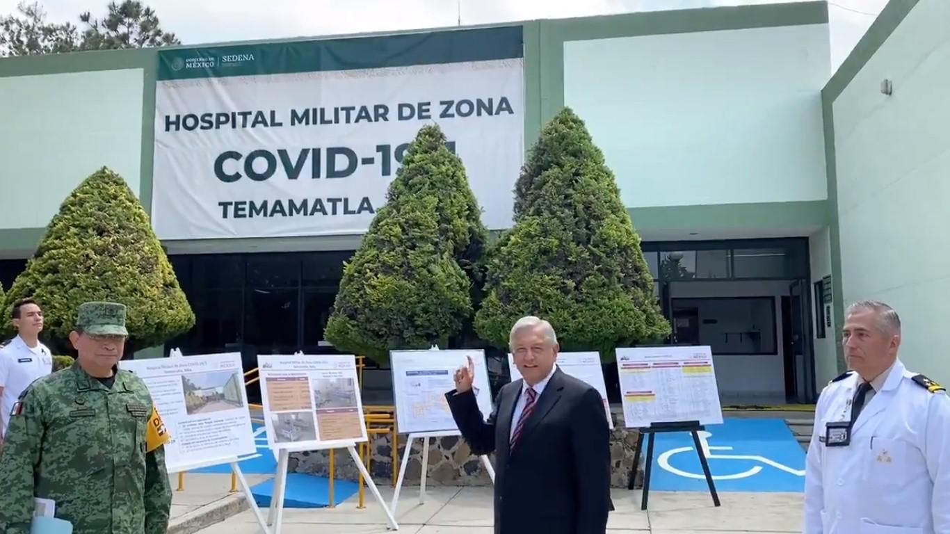 AMLO presenta hospital para atender enfermos de COVID-19