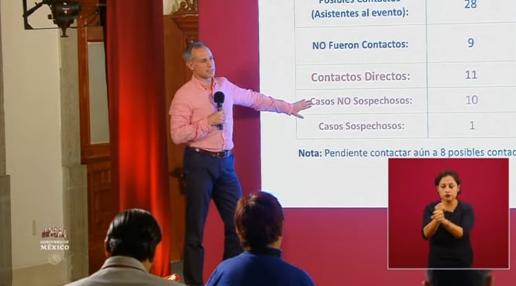 Conforma López Gatell que empleado de gobierno que fue a conferencia dio positivo a COVID-19