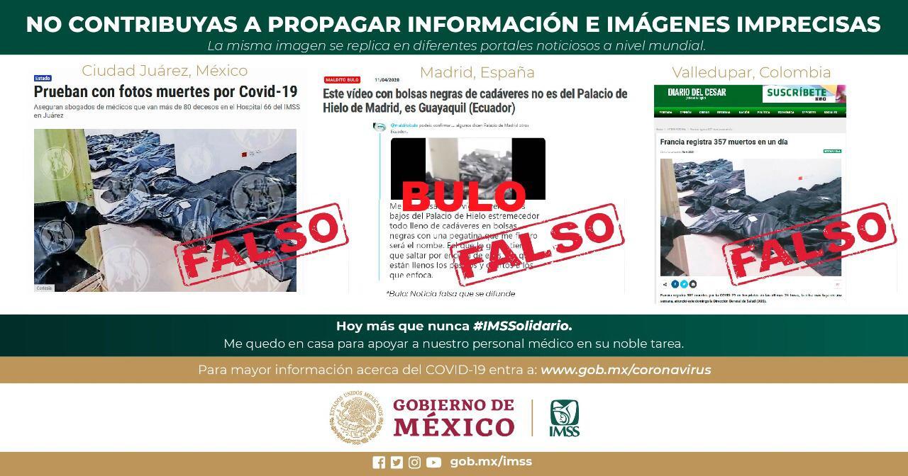 Falsa información difundida sobre manejo de cadáveres en hospital de Ciudad Juárez: IMSS