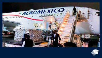 Llega a México avión de China con 10 toneladas de insumos médicos