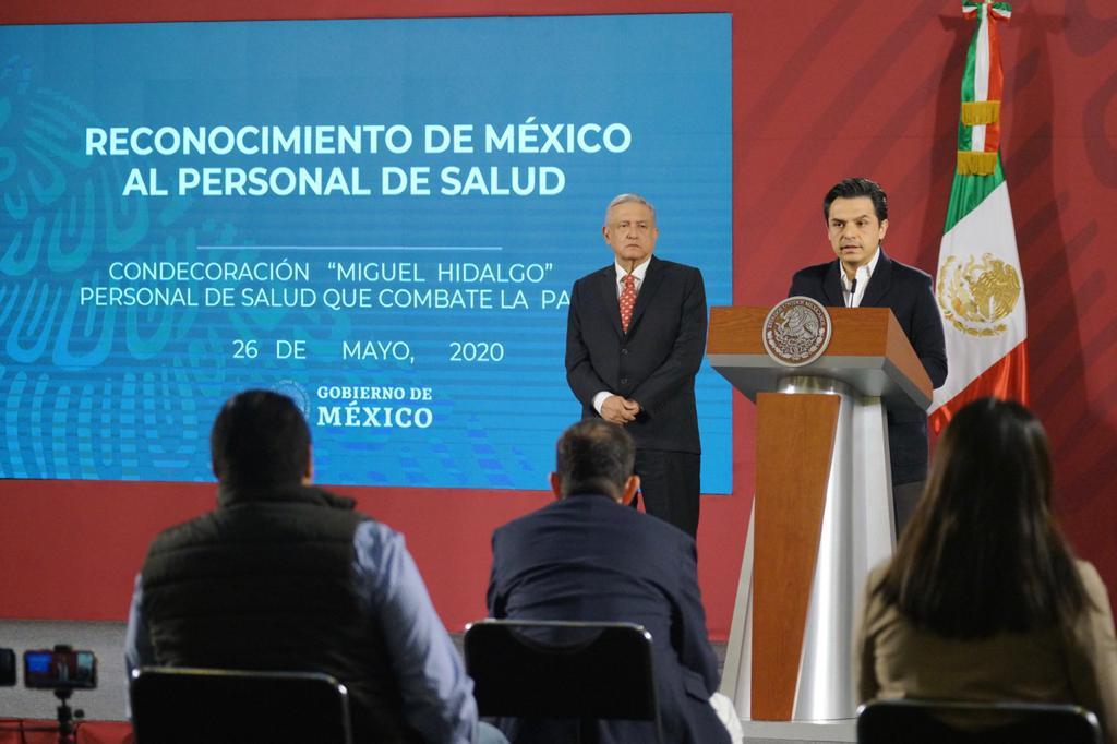 Presentan al jurado calificador de la condecoración Miguel Hidalgo que  se entregará al personal de salud que atiende COVID-19