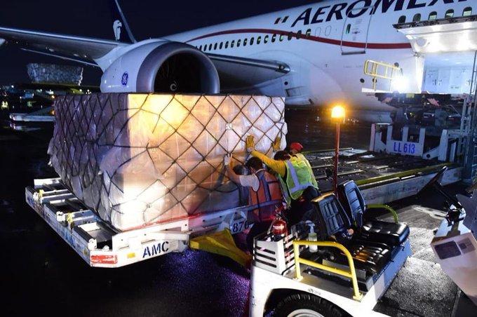 Llega al país vuelo 12 de China con insumos médicos para enfrentar COVID-19