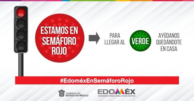 Pide Estado de México no bajar la guardia, recuerda que hay semáforo rojo por Coronavirus.