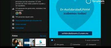 """Ponen en marcha página """"Solidaridad UNAM"""""""
