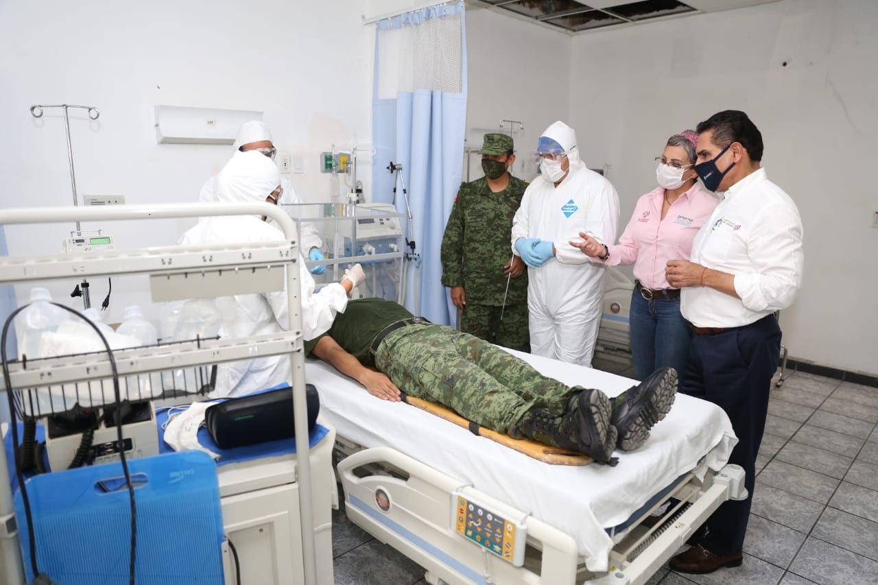 Habilitan Hospital Regional de 43 Zona Militar, en Michoacán,  para atención de COVID-19