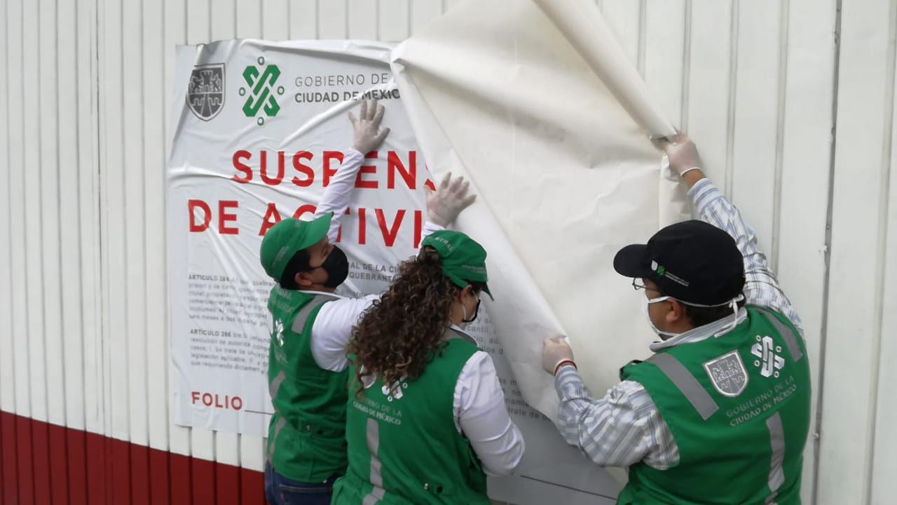 Continúa suspensión de establecimientos no esenciales durante contingencia por COVID-19