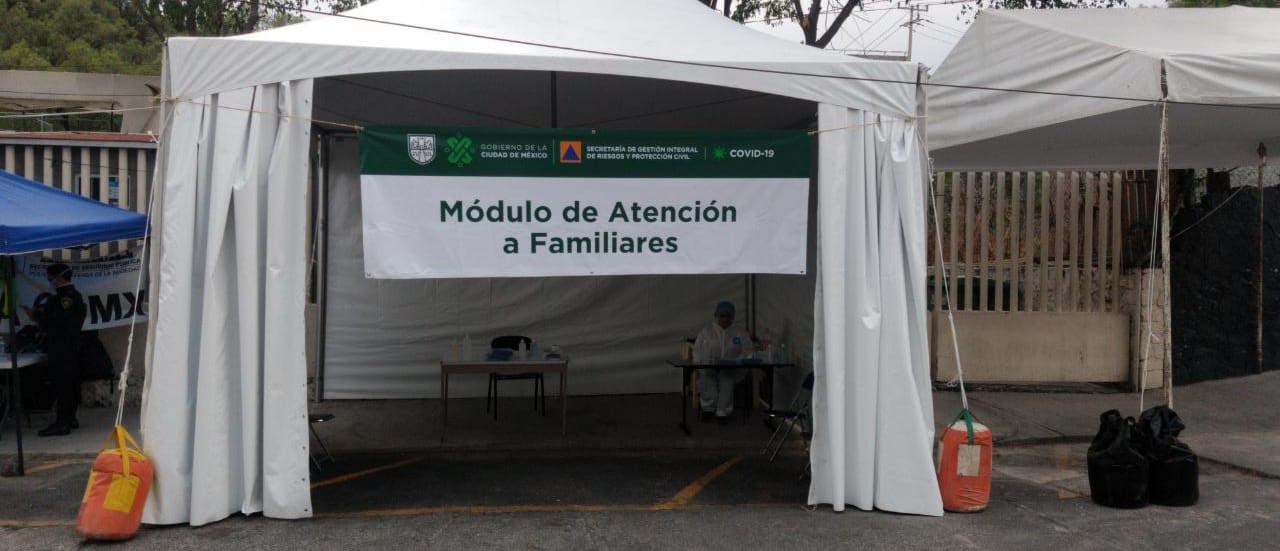 Instalan módulos de atención a familiares de pacientes COVID-19 en hospitales
