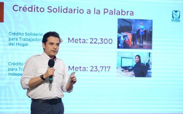 Más de 2 mil personas trabajadoras del hogar e independientes con registro ante el IMSS han solicitado Crédito Solidario a la Palabra