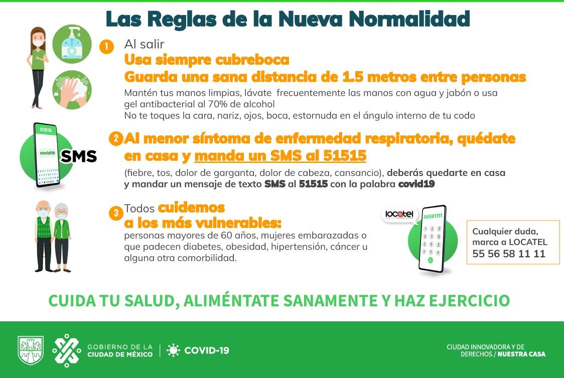 Estas son las 10 reglas básicas para la transición al semáforo naranja en la Ciudad de México