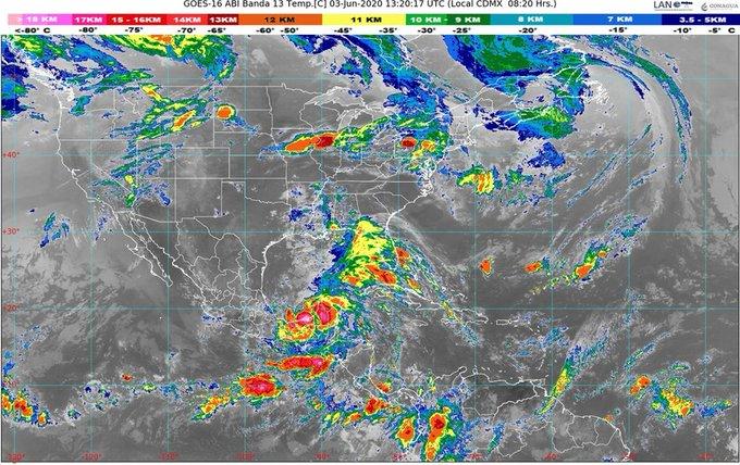 Se esperan lluvias y deslaves en el sureste por la Tormenta tropical Cristobal