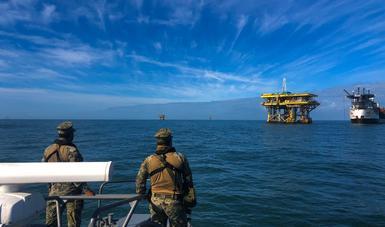 Secretaría de Marina-Armada de México mantiene reforzamiento de seguridad en la Sonda de Campeche