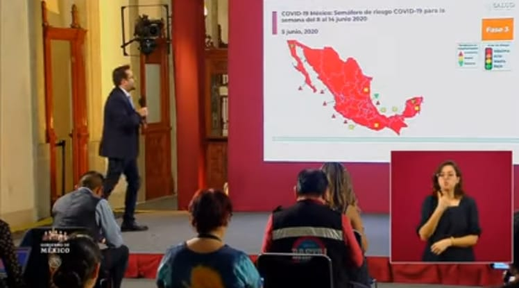 Todo el país, incluido Zacatecas, está en Semáforo Epidemiológico Rojo