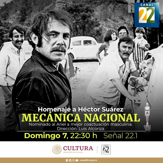 Secretaría de Cultura rendirá homenaje a Héctor Suárez