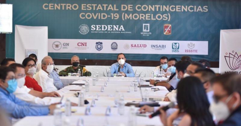 """Morelos implementa Plan """"Convoy, Unidos por la Normalidad y la Salud de Morelos"""