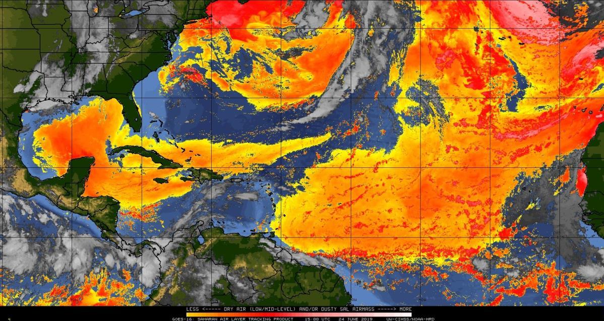 Llegará nube de polvo del Sahara a varios estados del país