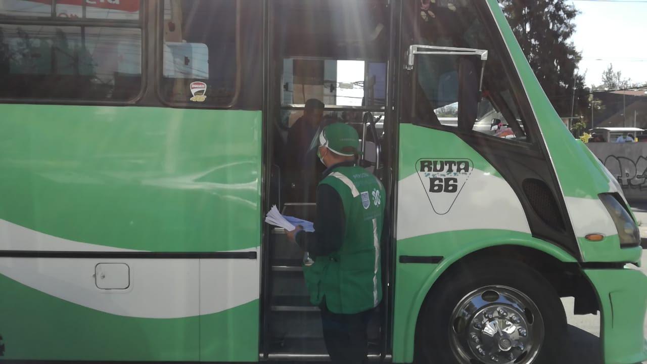 Continúan medidas sanitarias en transporte público de la Ciudad de México