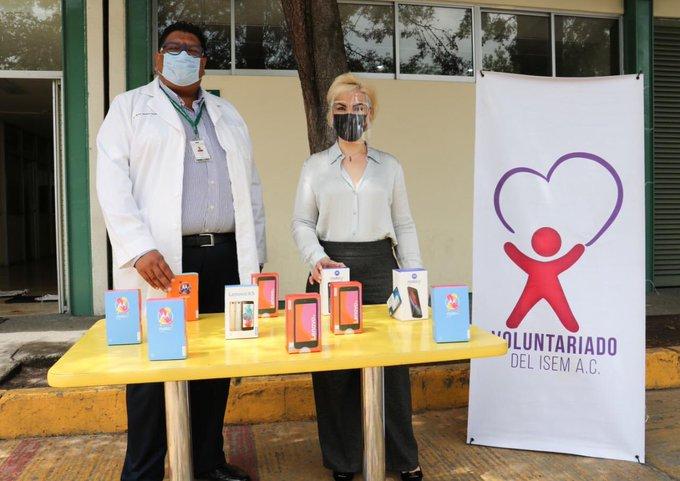 Dona Voluntariado del ISEM equipos telefónicos a hospitales del Estado de México