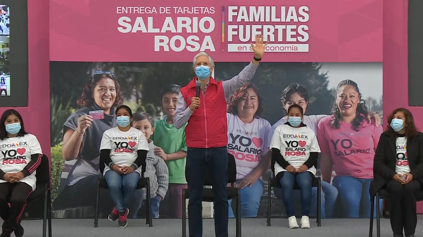 Gobierno del EdoMéx reanuda entrega del Salario Rosa