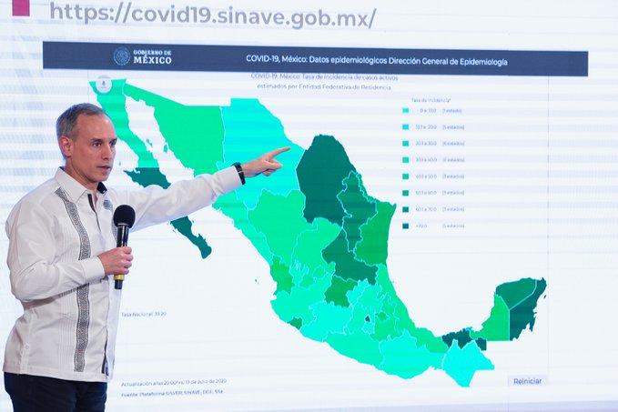 México registra 39 184 defunciones por COVID-19 y 344 224 casos confirmados: SSA