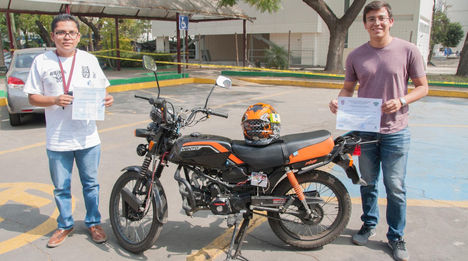 Diseña IPN sistema antirrobo de motocicletas