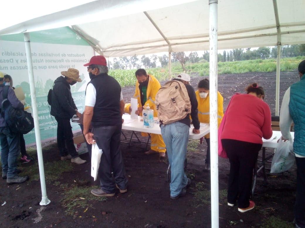 Entrega SEDEMA 4 mil 350 apoyos COVID-19 a productores agrícolas y pecuarios