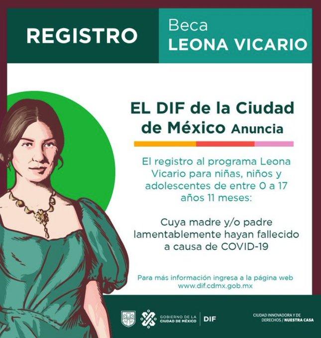 """Otorga gobierno capitalino beca """"Leona Vicario"""" a niñas, niños y adolescentes en situación de orfandad por covid-19"""