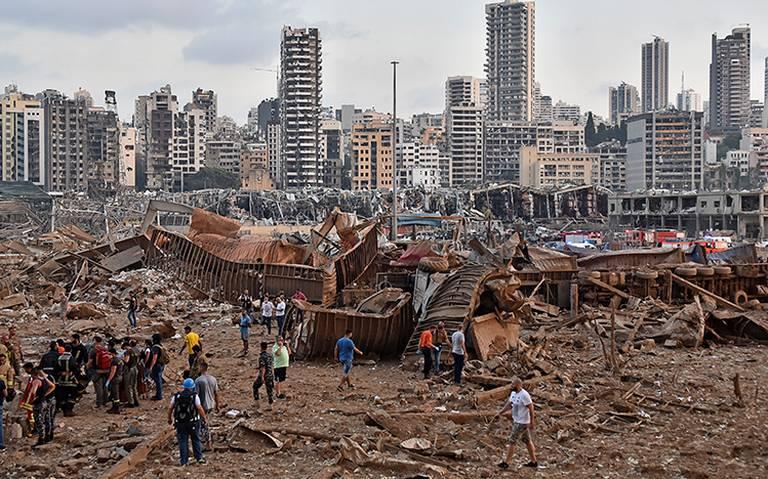Primer ministro de Líbano decreta toque de queda por víctimas de las explosiones
