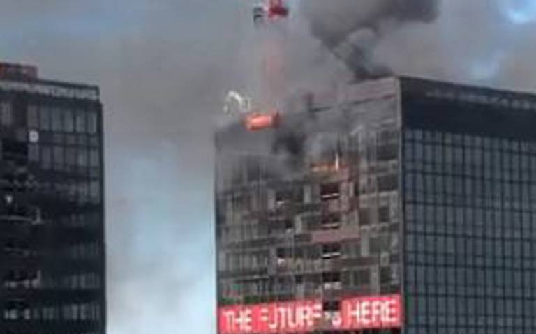 Registran incendio en World Trade Center de Bruselas