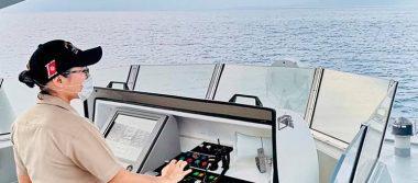 Una mujer hace historiaen la Secretaría de Marina al quedar al mando de una patrulla costera