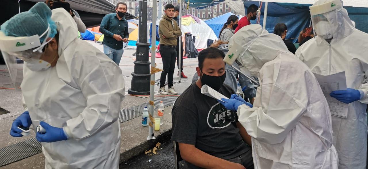 Continuará gobierno capitalino aplicando pruebas covid-19 a manifestantes del zócalo