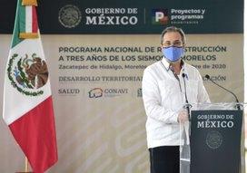 Informa Esteban Moctezuma Barragán avances en reconstrucción de planteles escolares