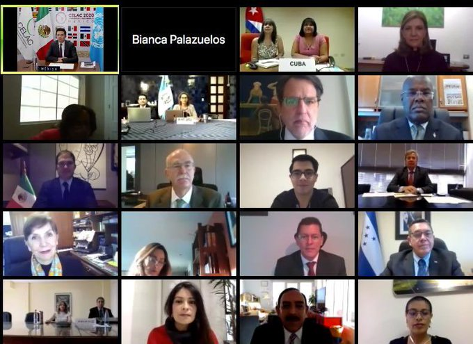 Se llevó a cabo la XXIX reunión de coordinaciones nacionales de la Comunidad de Estados Latinoamericanos y Caribeños