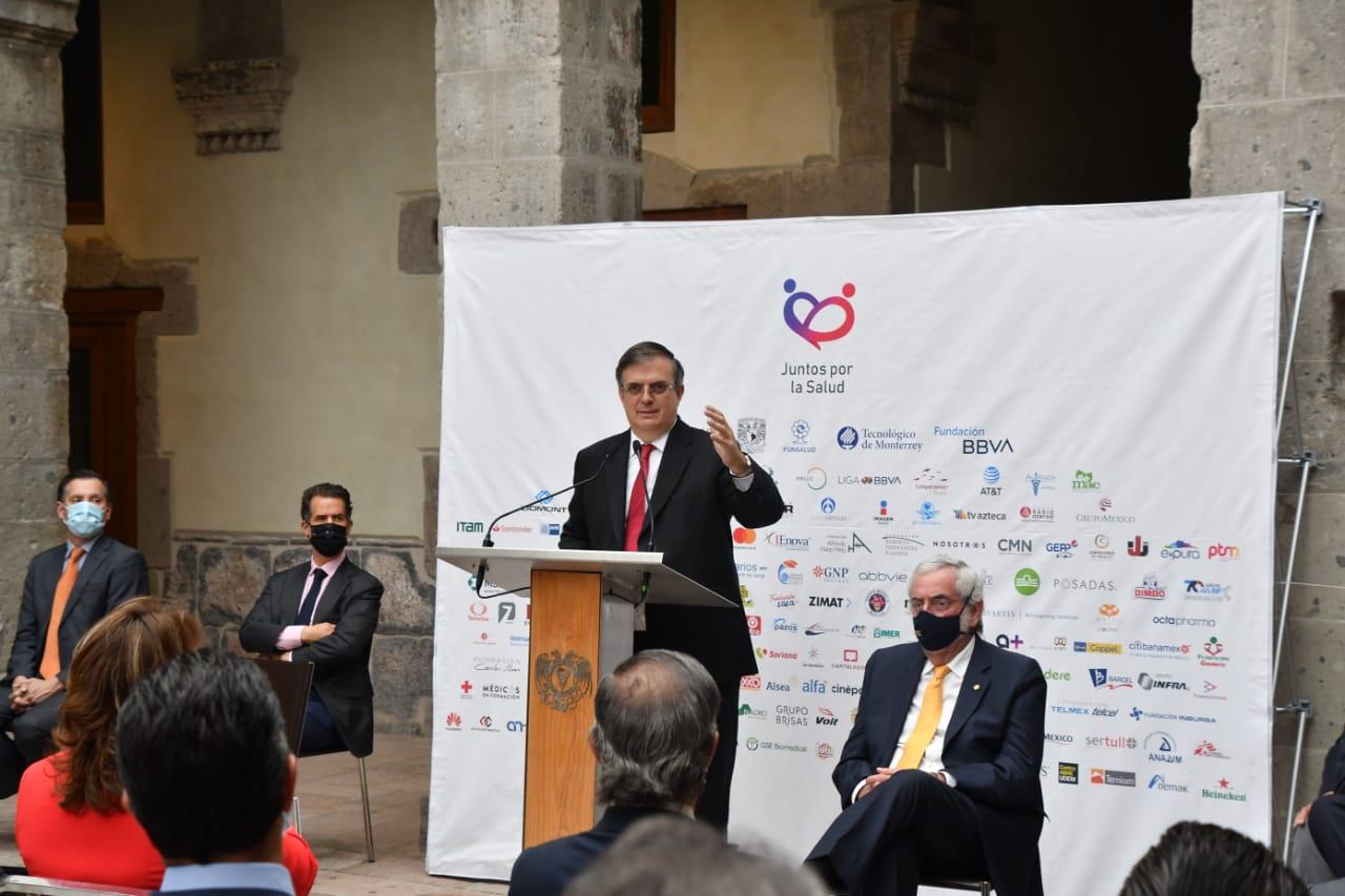 Iniciativa Juntos por la Salud presenta informe de resultados en la lucha contra el COVID-19