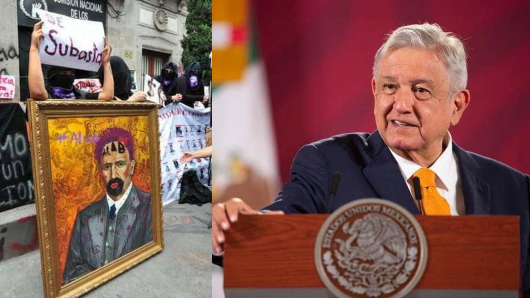 El Presidente Andrés Manuel dijo que esta de acuerde con las manifestaciones pero desaprueba la violencia