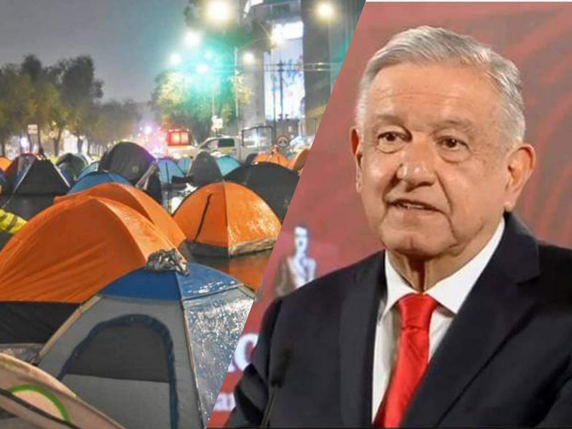 Andrés Manuel permite el al acceso al Zócalo al contingente de FRENAAA