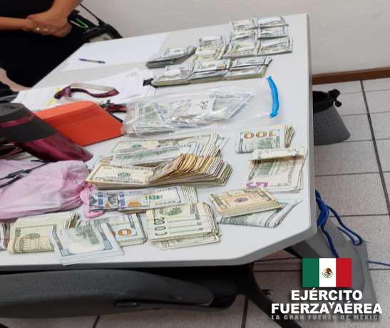 Ejército Mexicano asegura más de 95,000 dólares en el estado de Baja California.