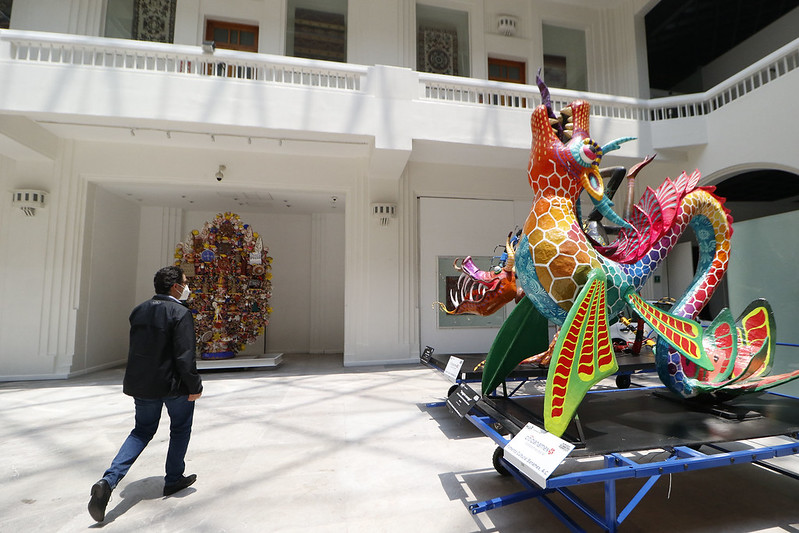 Disfrutan capitalinos y visitantes reapertura del Museo de Arte Popular