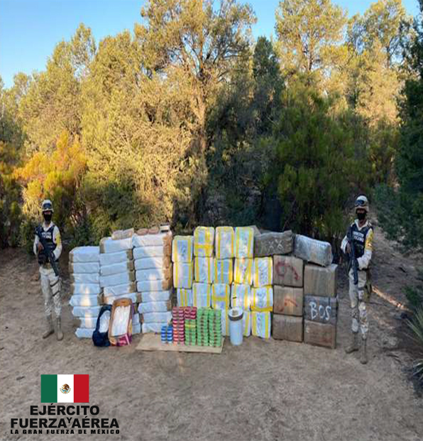 Ejército Mexicano asegura probable droga con un valor aproximado de más de $409 millones de pesos en Baja California