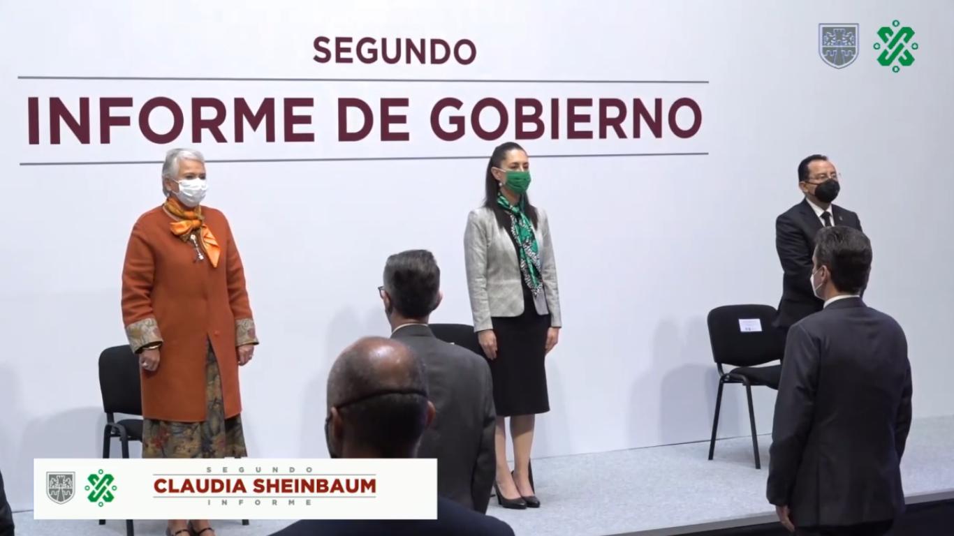 Claudia Sheinbaum menciona logros y agradecimientos en su Segundo Informe de Gobierno