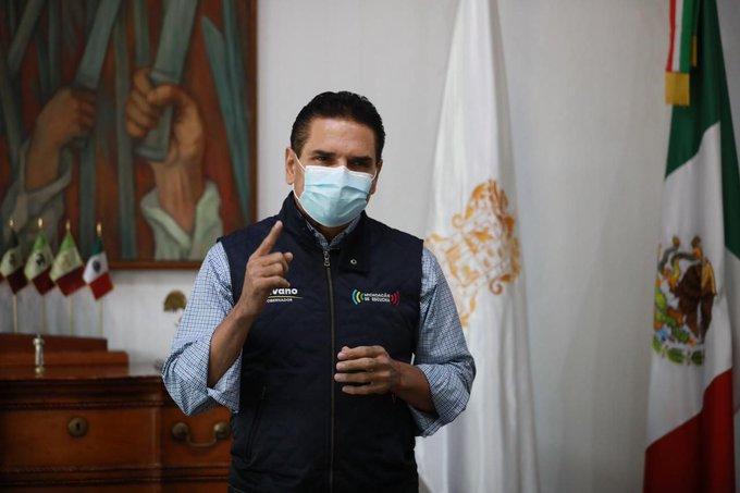 El Gobernador de Michoacán, Silvano Aureoles, retoma actividades tras superar el COVID-19
