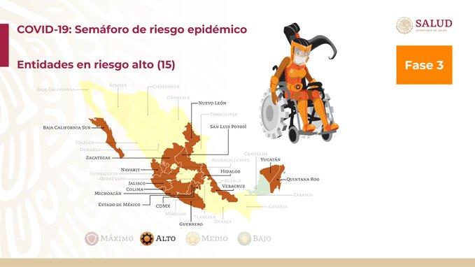 México registra 76 603 defunciones por COVID-19 y 733 717 casos confirmados: SSA