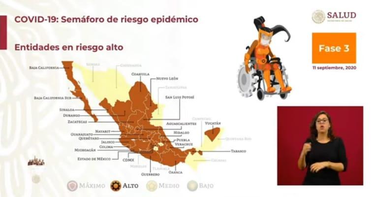 24 entidades estarán en color amarillo y 8 en naranja en el Semáforo Epidemiológico