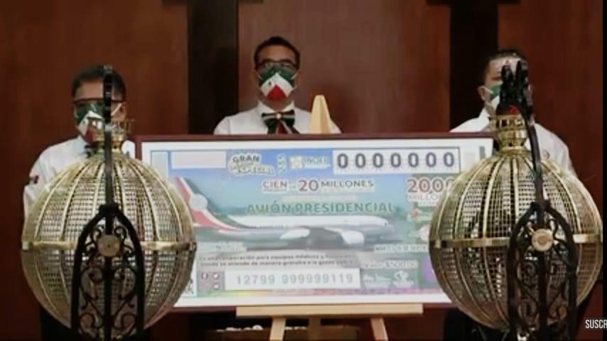 Se llevó a cabo el sorteo sobre la rifa del avión Presidencial