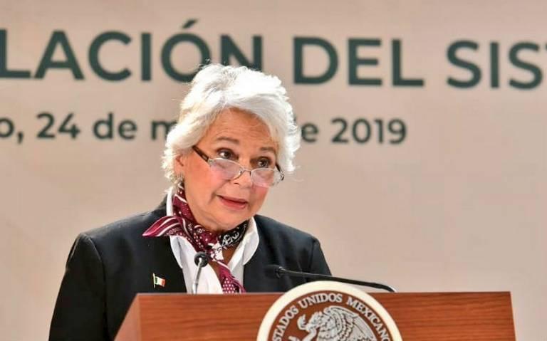 Olga Sánchez Cordero indicó que el sistema para erradicar la violencia de genero está en renovación por la pandemia