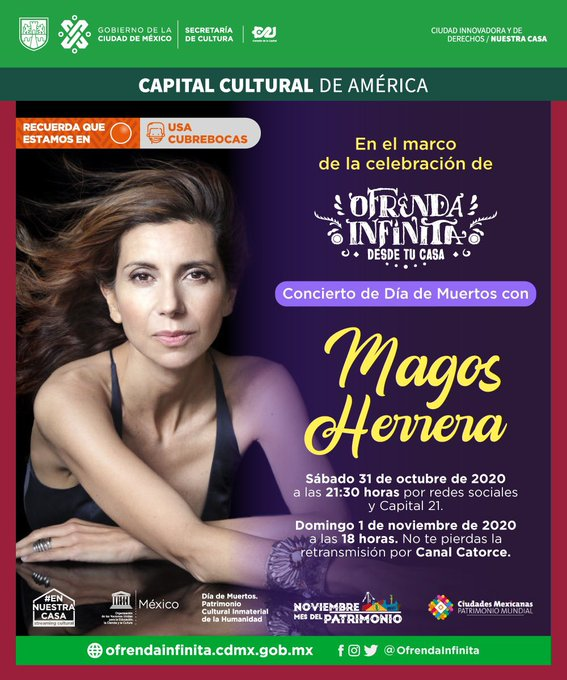 Magos Herrera ofrecerá concierto especial para recordar a los seres queridos