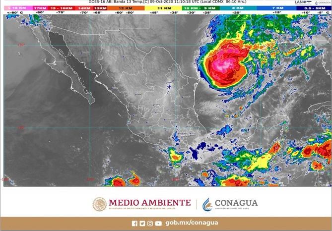 Huracán Delta ha dejado de afectar al país, sin embargo se pronostican lluvias muy fuertes para Campeche, Chiapas, Oaxaca y Tabasco