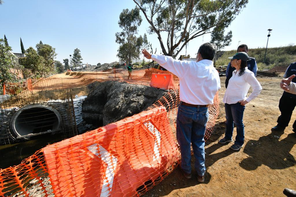 Supervisa Jefa de Gobierno construcción de Colector Gitana en Tláhuac, será concluido en diciembre próximo