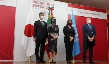 La Embajada de Japón en México y UNOPS formalizan proyecto de cooperación económica en apoyo a México para enfrentar el COVID-19