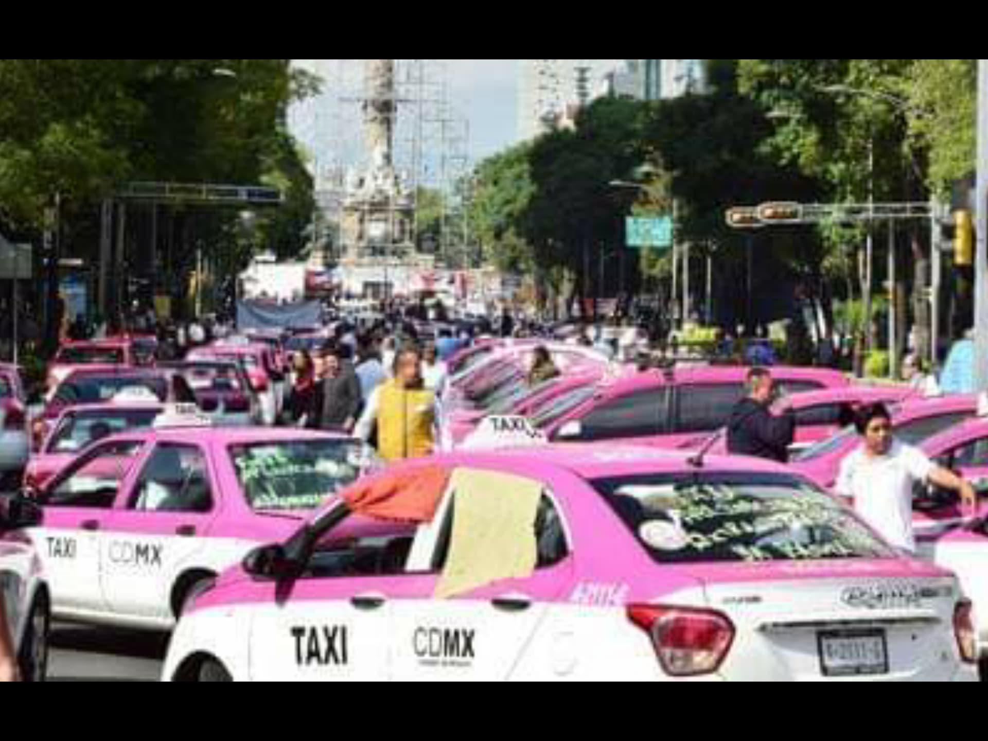 Taxistas advierten de una mega marchaen la Ciudad de México
