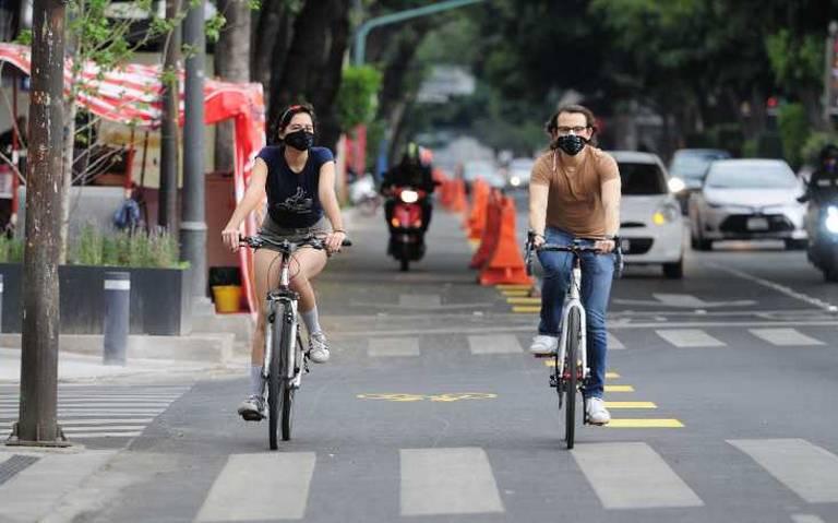 Piden permanencia para la ciclovía emergente en la avenida Insurgentes